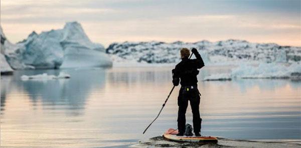 SUP-in-Grönland